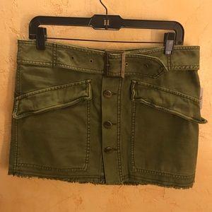 Olive cargo mini skirt (Free people)